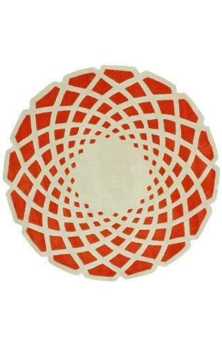 nuLOOM ACR138B Cine Collection Lumi Contemporary Hand Made Round Area Rug, 8-Feet, Orange