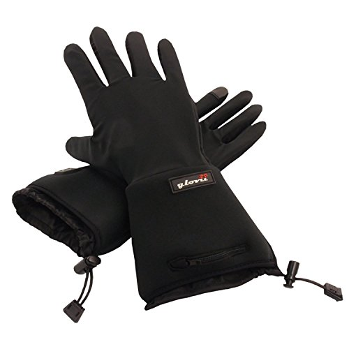 Battery Heated Universal Touchscreen Glove Liners, Up To 6 Hours Of Warmth At One Recharge - Improved 2014 Model...