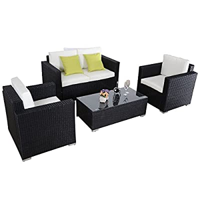 Awesome Giantex Outdoor Wicker Sectional W cushions pc Patio Furniture Rattan Sofa Set Black