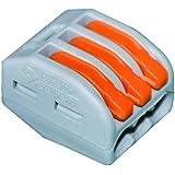 Wago 3x Verbindungsklemme mit Betätigungshebel (50 Stück), 0,08 bis 4 mm, 222-413