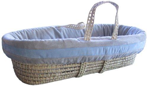 Imagen de Baby Doll Bedding Set Zuma Moisés Basket, Gris / Azul