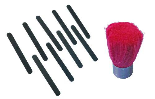 ネイルファイル10枚 爪やすり 180 + ネイル用ダストブラシ ネイル用品 ジェルネイル ネイルケア用品