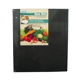 RV Stove Top Grate Rattle Cover Decor Mate Stove Topper RV Stove Cover (Black)