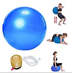 Gym Ball 65 Cm With Air Pump For Fitness & Exercise (Multicolor)