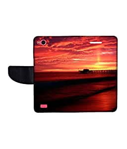 KolorEdge Printed Flip Cover For Gionee Elife E3 -Multicolor (45KeMLogo10506GioneeE3)