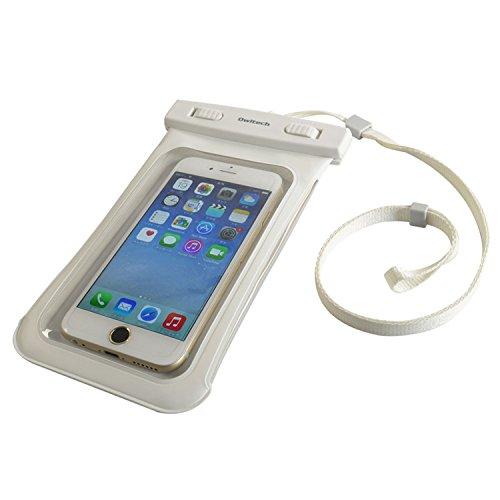 オウルテック 防水・防塵ケース もしもの時でも安心メーカー保証 iPhone 6s / 6sPlus等対応 最高級保護レベルIP68取得 ネックストラップ付 ホワイト