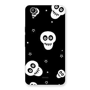 Skull Star Back Case Cover for Micromax Canvas Selfie Lens Q345