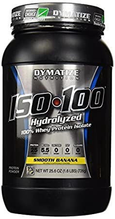 Iso 100 Hydrolyzed 100% Whey Protein 1.6 lbs Pwdr by Dymatize Nutrition