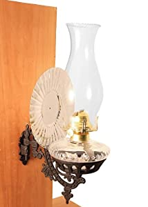 Wall Hurricane Lamps : Amazon.com: Victorian Oil Lamp - Clear w/Reflector Wall Mount - Vintage Hurricane Lamps: Home ...