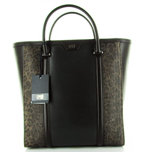 SHOPPING BAG CAVALLI NERA E MARRONE