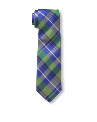 Ben Sherman Men's Savory Plaid Tie, Navy/Green