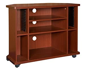Home Source Industries TIF00103 TV Cart with Assorted Storage Solutions, Mahogany