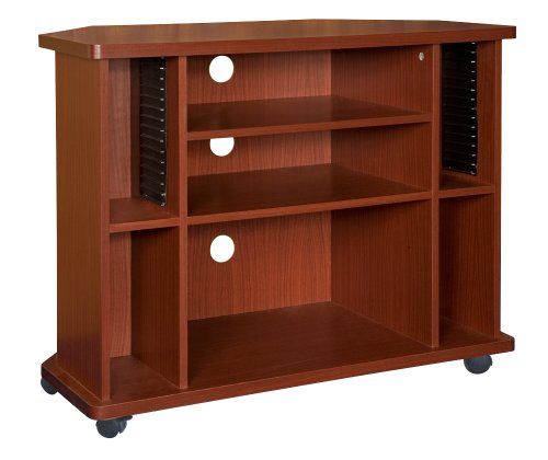Home Source Industries TIF00103 TV Cart with Assorted Storage Solutions, Mahogany image