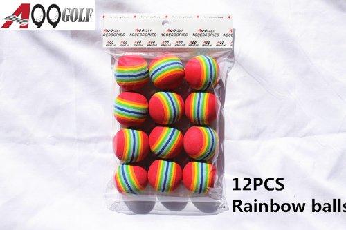12pcs EVA ball foam ball rainbow practice golf training aids Or Cat toy