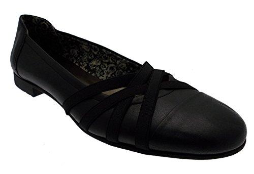 paperina ballerina pantofolina pelle nero elastico art 3526 37 nero