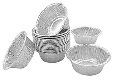 "Foil Mini Baking Cups 2-5/8"" For Utility Ramekin Cup Mini Muffin, Cupcake, Custard Baking Bake Very Small 20 Pcs."