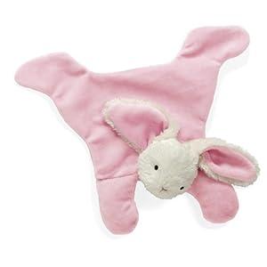 "North American Bear 8.5"" Loppy Baby Cozie Blankie, Bunny Pink"