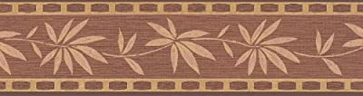 A.S. Création Borders Bamboo Leaves Brown and Gold from A.S. Creation