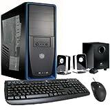 Cbi-PC Gamer PC Basic Six-Core Gamer System (Hexa Core), 8GB RAM, 1TB Hard Drive, nVidia GT-610 w/1GB, Windows 8.1, Keyboard, Optical Mouse, Seakers w/Sub-Woofer (Color: Black / Blue)