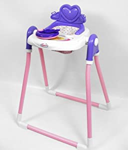 Large Dolls High Chair And Feeding Set Toys