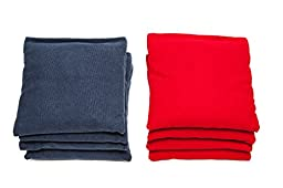 Weather Resistant Cornhole Bags (Set of 8) by SC Cornhole (Red/Navy Blue)