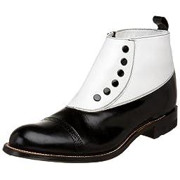 Stacy Adams Men\'s Madison Cap-Toe Spat Boot,Black/White,12 D US