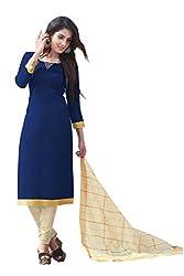 Bhagwati Women's Satin Unstitched Dress Material (summercoolBlue_Blue_Freesize)