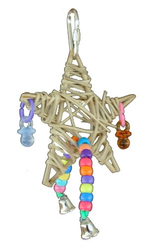 Cheap Super Bird Creations 6-1/2 by 4-Inch Falling Star Bird Toy, Small (675-00419)
