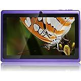 """JEJA 7"""" pouces Tablette PC Google Android 4.2.2, Allwinner A23 DDR3 Dual Core 1.5GHz 512Mo RAM 8Go ROM Dual Caméras WiFi Écran Tactile Capacitif Tablette PC (Violet)"""