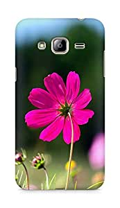 Amez designer printed 3d premium high quality back case cover for Samsung Galaxy J3 (2016 EDITION) (Flower Red)