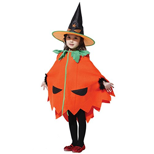 Coobl® Halloween Pumpkin Witch Costume Cosplay Theater Performance Apparel
