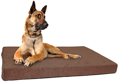 """Schecker """"DOG ORTHO"""" Orthopädisches Hundebett inkl. 2 weiche Frotte-Bezüge (Wechselbezug) Thermo-isolierend Anti-Rutsch-Boden nässebeständig , Maschinenwaschbar und Trockner-beständig bis 40C°"""