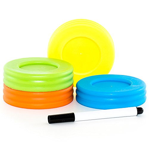 Mason Jar Lids - Compatible with Regular Mouth Size Ball Jars - Reusable and Leak Proof Plastic Lids are BPA Free - Includes Pen for Marking - Pack of 4 (Leak Proof Glass Jar compare prices)