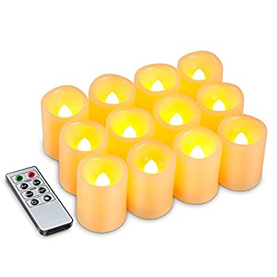 Best Cheap Deal for Kohree Set of 12 Flameless Votive Candles Pillar LED Candles with Remote & Timer, Batteries Included, Wavy-edge, Yellow Color from Kohree - Free 2 Day Shipping Available