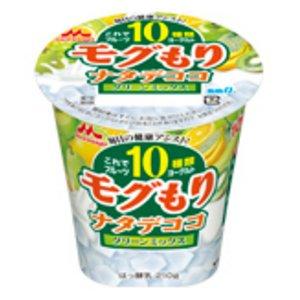 森永 これでフルーツ10種類ヨーグルト モグもりナタデココ グリーンミックス210g 6個