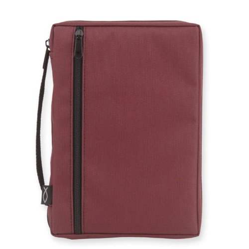 Burgundy with Fish Bible Cover MD: 6W X 9H X 2D (Gregg Bible Gear 1218-37) (Gregg Gift Company compare prices)