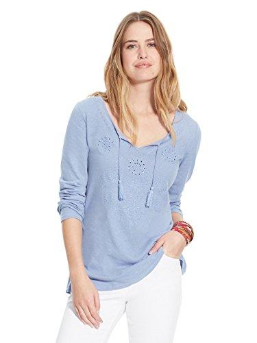 Balsamik - Maglietta con ricami traforati - donna - Size : 54/56 - Colour : Blu jeans
