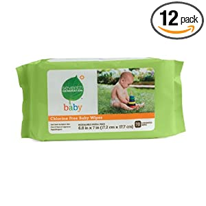 Seventh Generation Baby Wipes Refills 70-Count Packs (Pack of 12) $19.47 Shipped