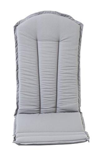 ambientehome sitzkissen und r ckenkissen f r adirondack chair falun grau hochlehner auflage kissen. Black Bedroom Furniture Sets. Home Design Ideas