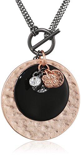 pilgrim-damen-kette-mit-anhanger-equals-messing-anthrazit-kristall-schwarz-rundschliff-08-cm-2415331