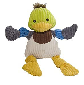 HuggleHounds Knotties Duck Dog Toy - Large