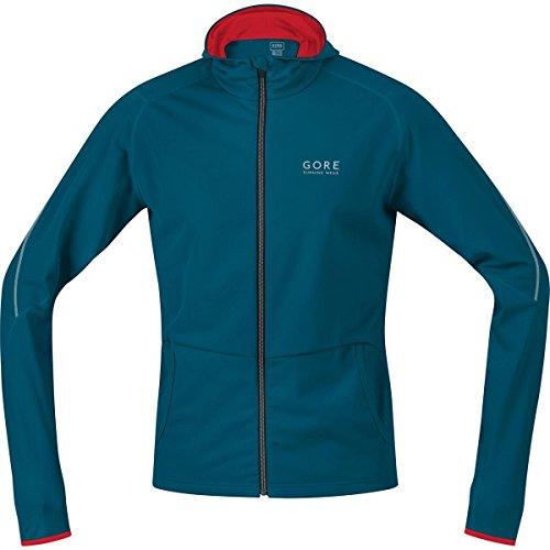 Gore Running Wear Essential - Sudadera con capucha para hombre, color azul / rojo, talla XL