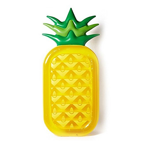 Bluestar Inflatable Pineapple Pool Floats Raft for Kids and Adults, 71''*36'', Yellow