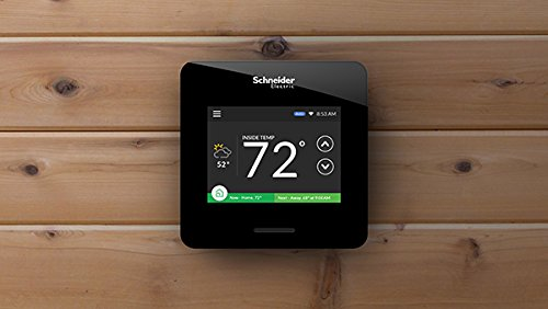 Schneider Electric Wiser Air Wi-Fi Smart Thermostat with Comfort Boost, Black