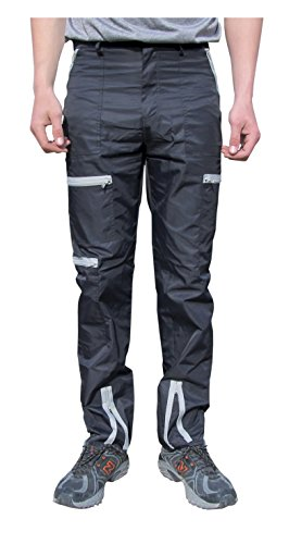 Countdown Classic Nylon 80s Parachute Pants (32, Black/Grey) (Parachute Pants With Zippers compare prices)