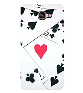 Vizagbeats Playing Cards Pattern Back Case Cover for SAMSUNG GALAXY A9