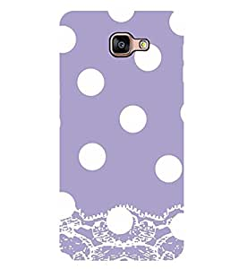 Vizagbeats White Polka Dot Pattern Back Case Cover for SAMSUNG GALAXY A9