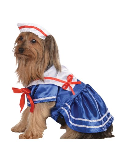 Cat & Dog Costume Sailor Girl Small