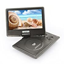 9.5Inch Portable DVD Player USB Radio Games 180 Swivel LCD MP3 MPEG4 RMVB (black)