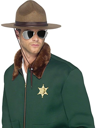 Sheriff Hat Super Troopers Police Ranger Highway Pharrell Mountie Brown Adult